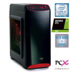 Namizni računalnik PCX EXACT i5-9400F/8GB/SSD 250GB/HDD 1TB/1650-4GB