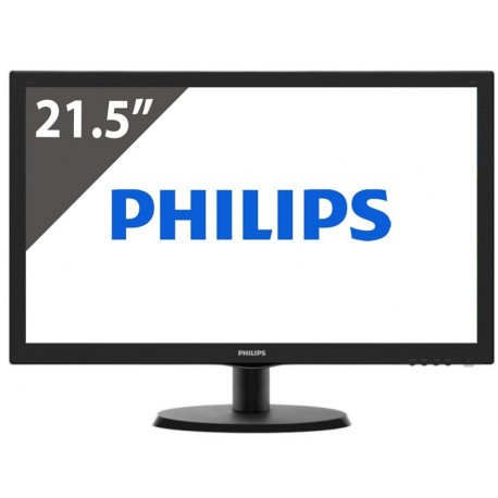 "monitor Philips 21,5"" FHD WLED z VGA+DVI"