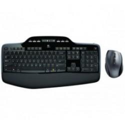 Tipkovnica +MIŠ Logitech Brezžična Desktop MK710 LCD SLO Unifying črna