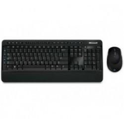 Tipkovnica +MIŠ Microsoft Brezžična 3000 ANGL BlueTrack + SLO nalepke črna