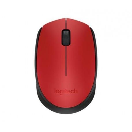 Miš Logitech NoteBook Brezžična optična M171 nano rdeca