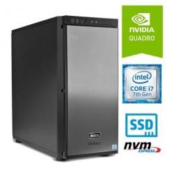 Računalnik  MEGA 8000 Grafikstation i7-7700/32GB/SSD512GB-NVMe/M2000-4GB